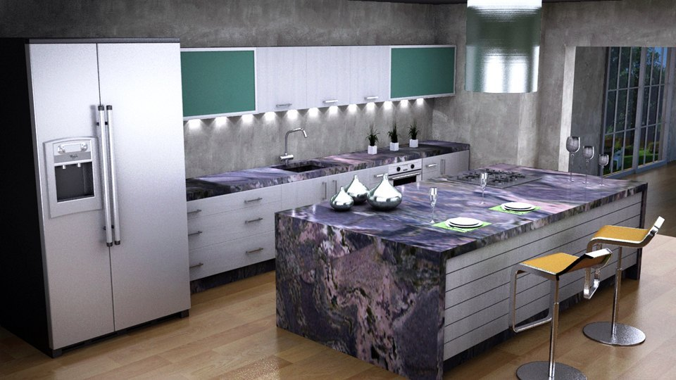 Cocina for Cocina encimera verde