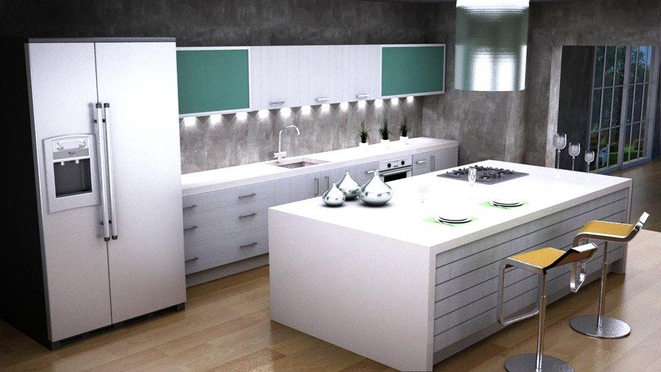 elaboramos la encimera para cocinas siguiendo exactas del cliente asesorando en cadas de agua y remates de la instalacin para conseguir una